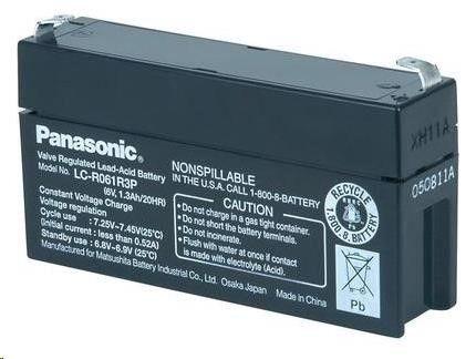 Baterie - Panasonic LC-R061R3P (6V/1,3Ah - Faston 187)