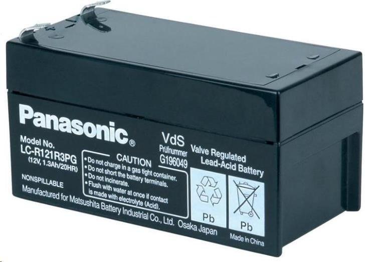 Bateria Panasonic LC-R121R3PG (12V/1,3Ah - Faston 187)