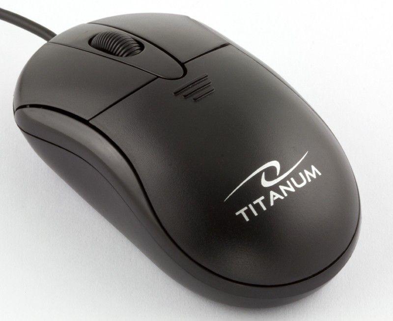Titanum przewodowa mysz optyczna TM107K USB PIRANHA 3D (1000dpi, czarna)