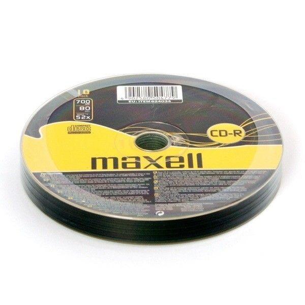 Maxell CD-R 700MB 52x (szpindel, 10szt)