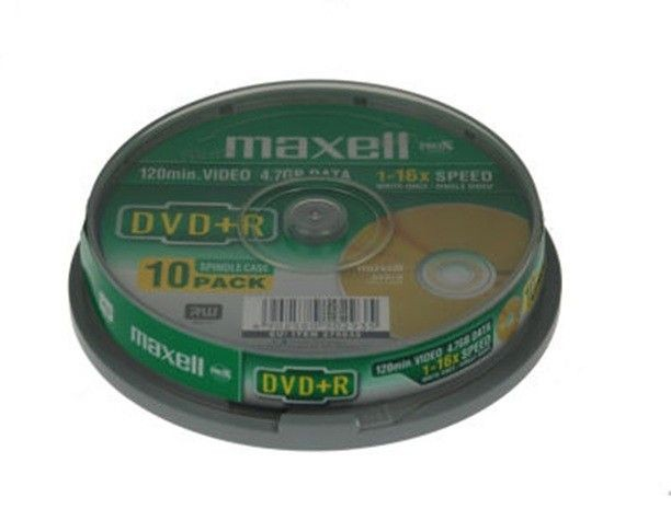 Maxell DVD+R 4,7GB 16x (cake box, 10szt)