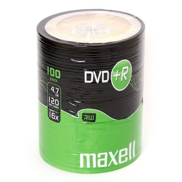 Maxell DVD+R 4,7GB 16x (szpindel, 100szt)