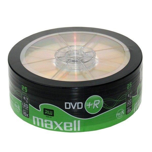 Maxell DVD+R 4,7GB 16x (szpindel, 25szt)