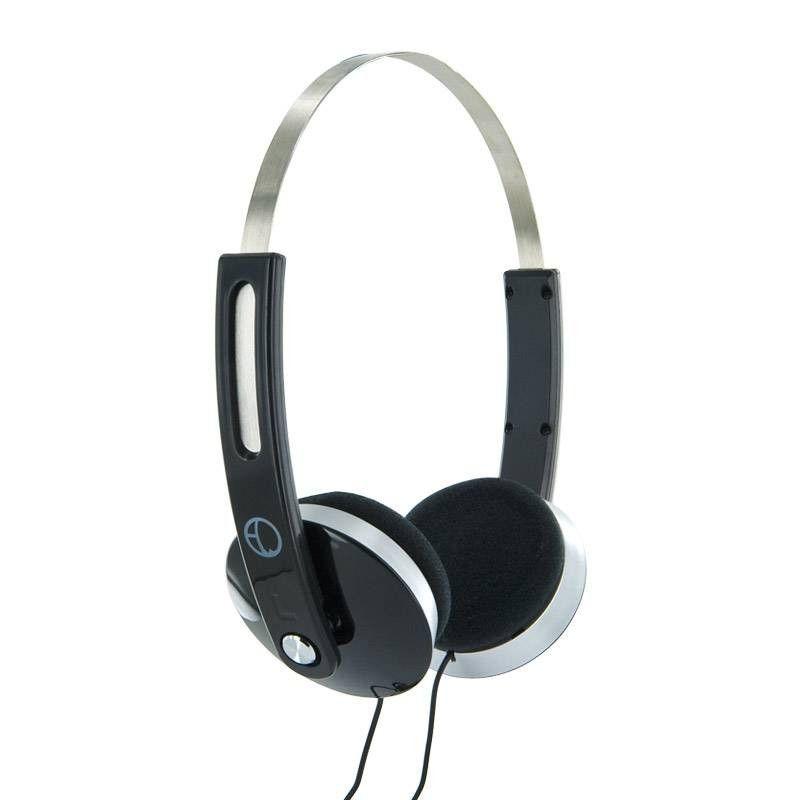 4World Słuchawki stereofoniczne z wygodnymi nausznikami ''Color'', 1.5m czarne