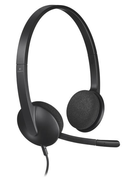 Logitech USB Headset H340 - BLACK - USB