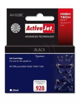 ActiveJet Tusz ActiveJet AH-920BC | Czarny | 20 ml | HP 920 CD971AE