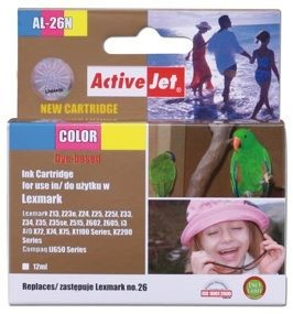 ActiveJet Tusz ActiveJet AL-26N | Color | 12 ml | Lexmark 10N0026