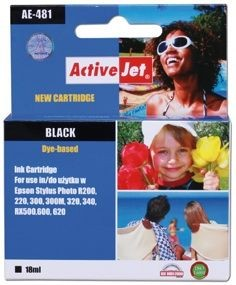 ActiveJet Tusz ActiveJet AE-481N | Black | 18 ml | Chip | Epson T0481