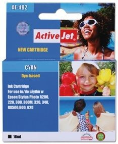 ActiveJet Tusz ActiveJet AE-482 | Cyan | 18 ml | Chip | Epson T0482