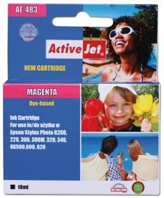 ActiveJet Tusz ActiveJet AE-483 | Magenta | 18 ml | Chip | Epson T0483