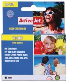 ActiveJet Tusz ActiveJet AE-484 | Yellow | 18 ml | Chip | Epson T0484