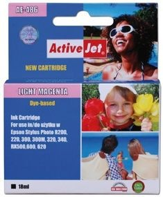 ActiveJet Tusz ActiveJet AE-486 | Light magenta | 18 ml | Chip | Epson T0486