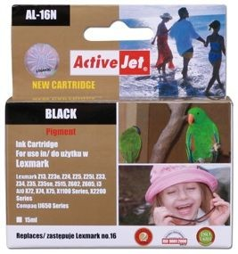 ActiveJet Tusz ActiveJet AL-16N | Black | 15 ml | Lexmark 10N0016