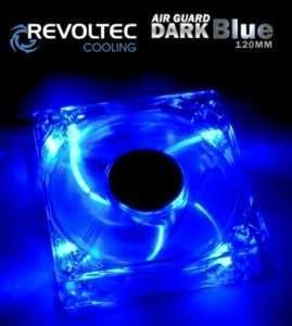 Revoltec wentylator ''Dark Blue'', 120x120x25 mm, świecący, 4 x niebieskie LED