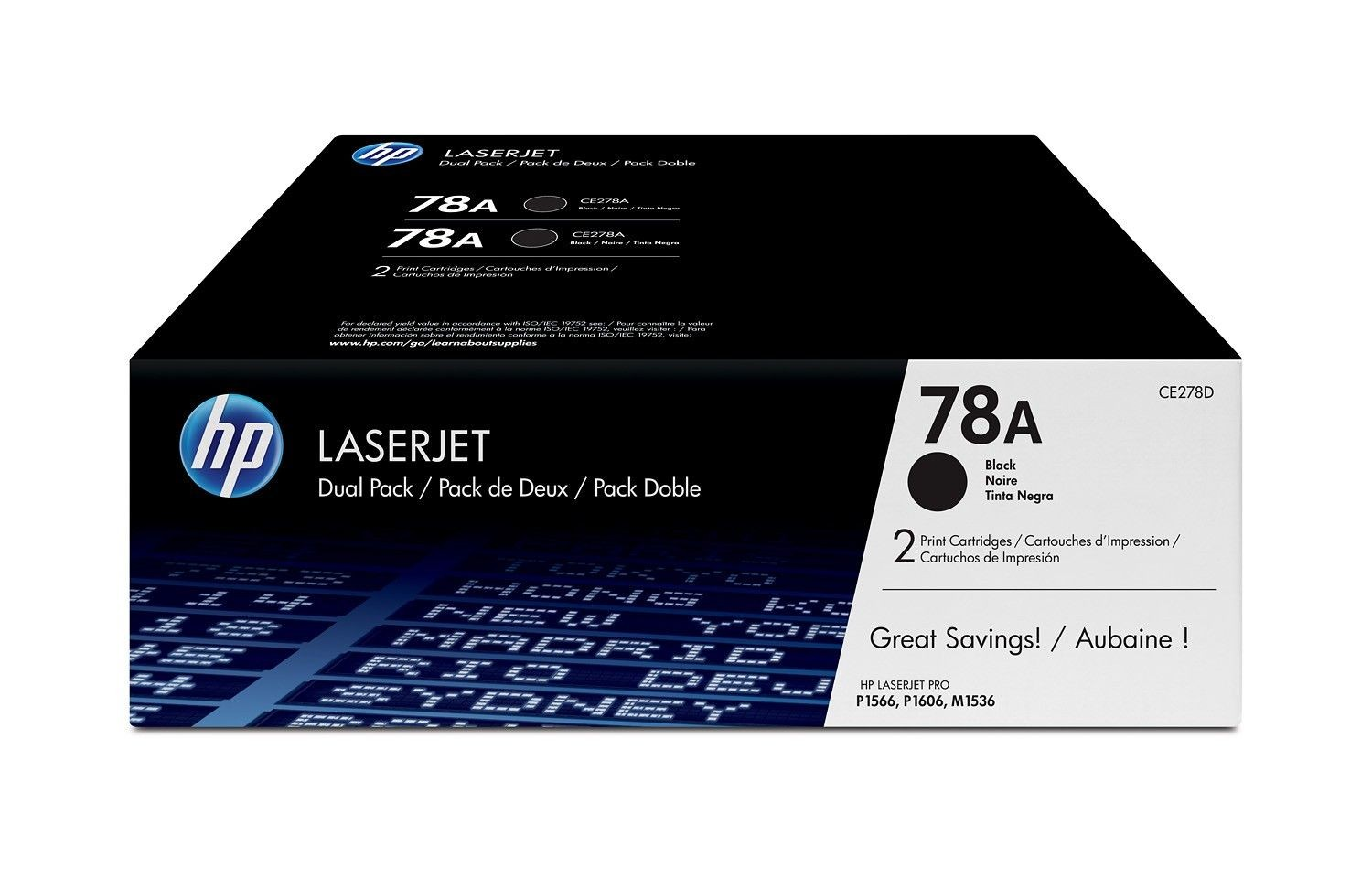 HP Toner HP 78A black dual pack