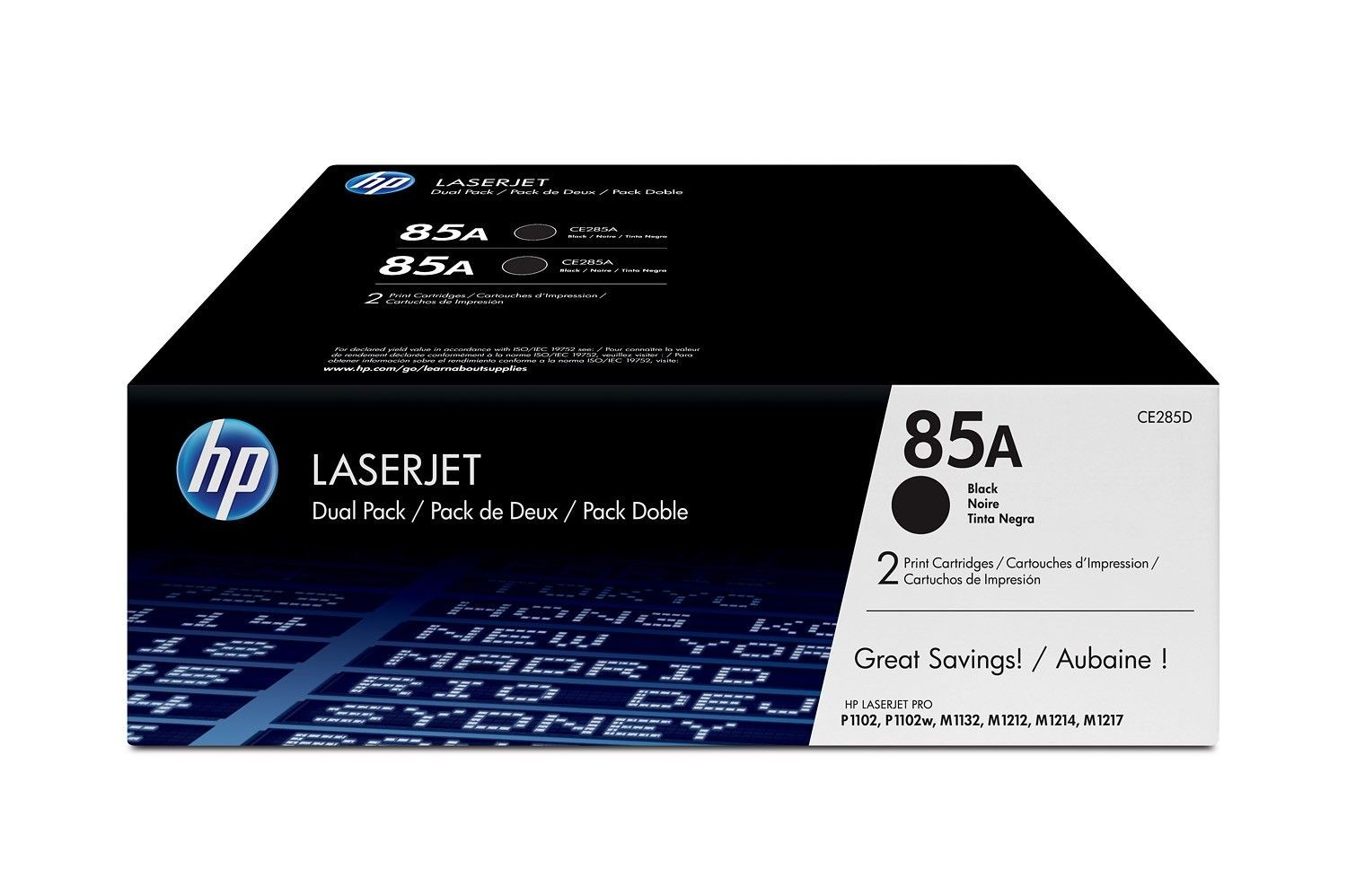 HP toner 85A black (P1102, P1102w, Dual Pack)