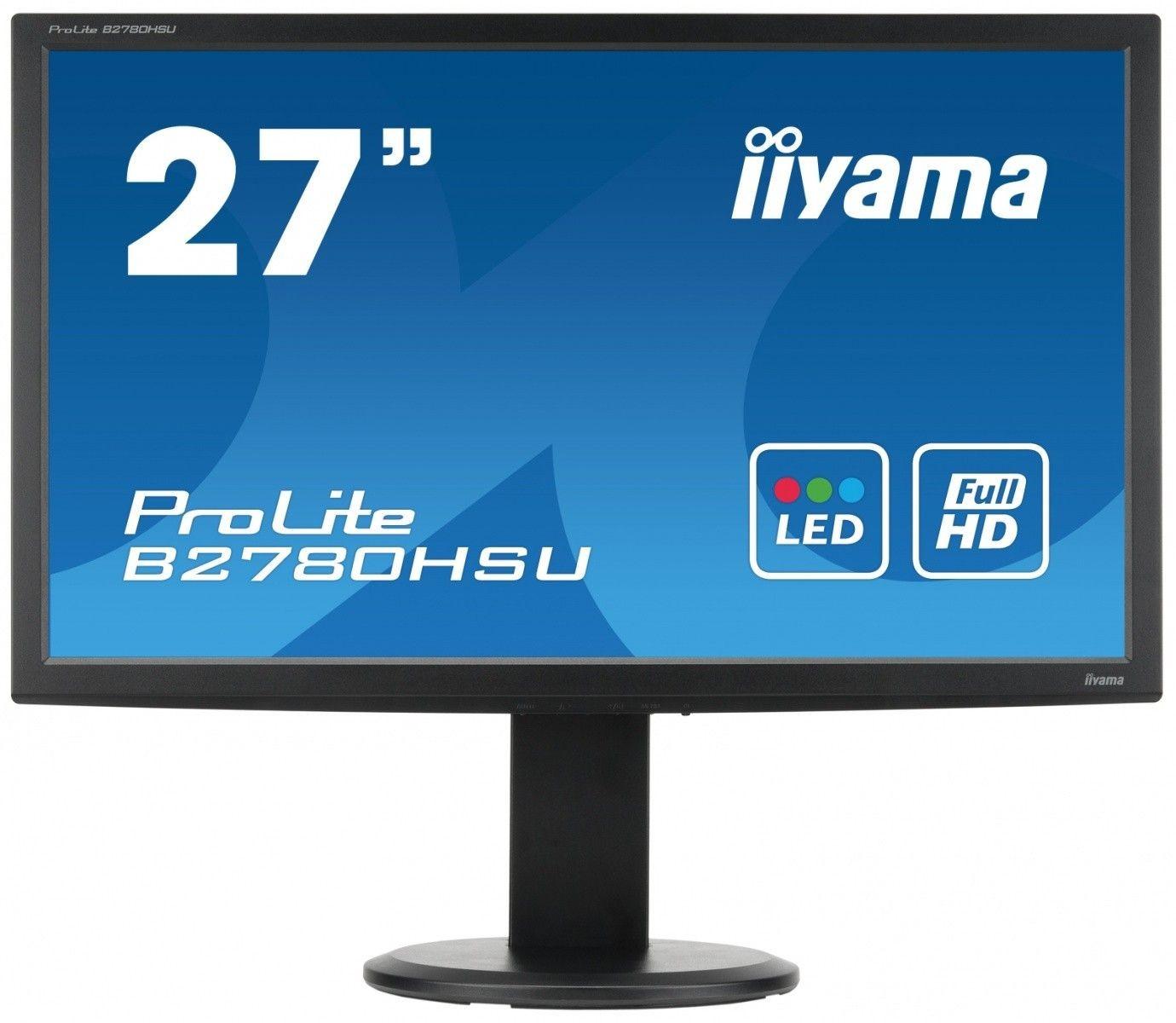 iiyama Monitor B2780HSU-B1 27inch, TN, Full HD, HDMI, USB, głośniki