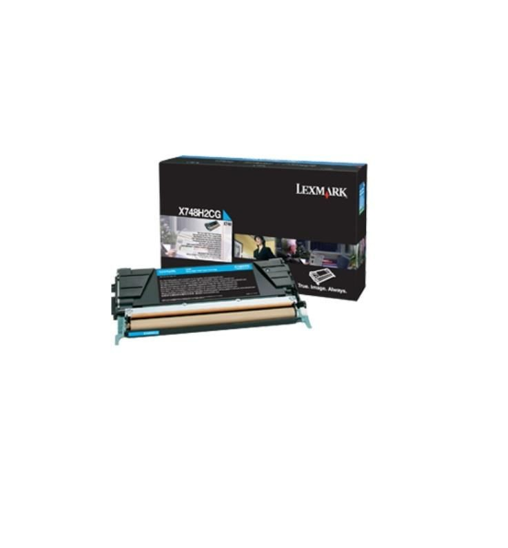 Lexmark toner cyan (10000str, X748de/X748dte)