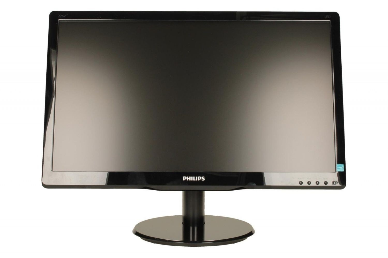 Philips Monitor 226V4LAB; 21,5 Full HD; DVI; głośniki,ES5.0, Glossy czarny