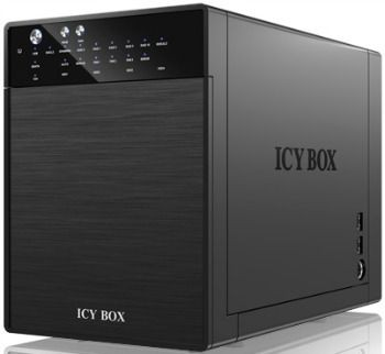 RaidSonic Technology IcyBox Obudowa na Dysk 4x3,5'' USB 3.0, eSATA Host, RAID 0, 1, 3, 5, 10, Czarna