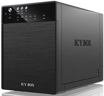RaidSonic Technology IcyBox Obudowa na Dysk 4x3,5'' SATA z USB 3.0, eSATA, JBOD, Czarna