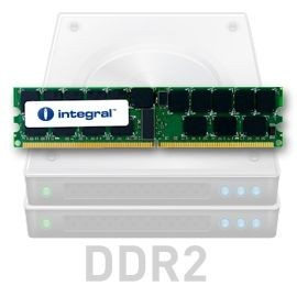Integral DDR2 2x2GB 667MHz ECC CL5 R2 Registered 1.8V
