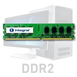 Integral DDR2 2x2GB 667MHz ECC CL5 R2 Unbuffered 1.8V