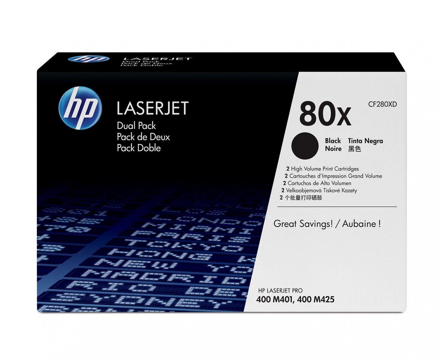 HP Toner HP 80X black 2pack | 2x6800str | LJ Pro 400 M401/MFP M425