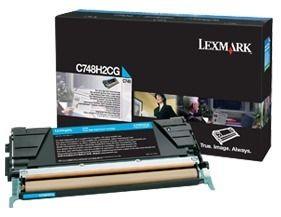Lexmark toner cyan (10000str, C748)