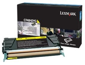 Lexmark toner yellow (10000str, C748)
