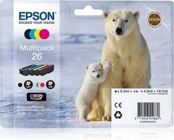 Epson zestaw tuszy CLARIA Premium 26 - multipack (CMYK)