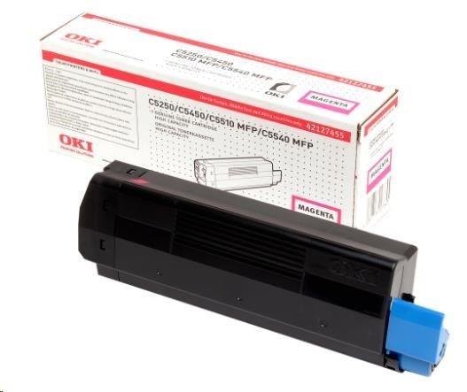 OKI C5250, C5450, C5510MFP, C5540MFP toner cartridge magenta high capacity 5.000 pages 1-pack