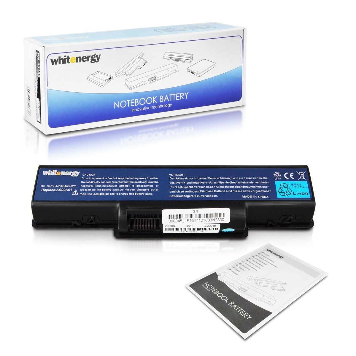 Whitenergy bateria do laptopa Acer Aspire 5732Z 11.1V Li-Ion 4400mAh