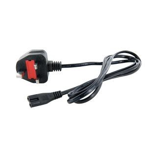 4World kabel zasilający komputerowy 2-żyłowy UK 1,5m
