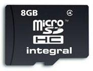 Integral micro SecureDigital HC 8GB (class 4)
