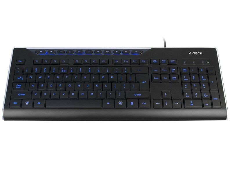 A4 Tech Klawiatura A4Tech KD-800L Black USB (Blue Light)