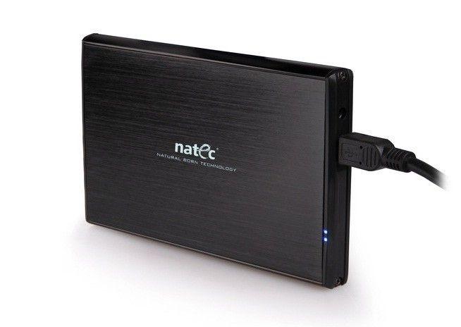 NATEC RHINO obudowa USB 3.0 na dysk HDD/SSD 2.5'' SATA, czarna Aluminium