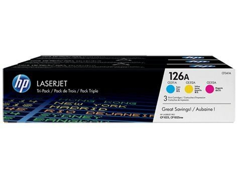 HP Toner HP 126A Tri-pack CYM | Color LaserJet Pro CP1025