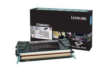 Lexmark toner Lexmark black (zwrotny, 12000str, C746/C748)