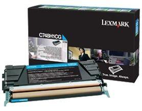 Lexmark toner Lexmark cyan (zwrotny, 10000str, C748)
