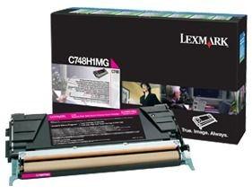 Lexmark toner Lexmark magenta (zwrotny, 10000str, C748)
