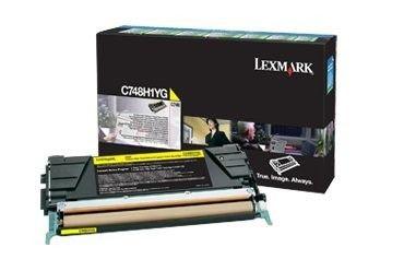 Lexmark toner Lexmark yellow (zwrotny, 10000str, C748)