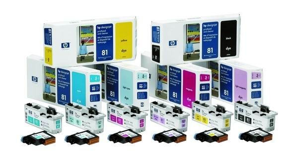 HP 81 Yellow Dye (głowica + gniazdo czyszczące, designjet 5x00pc/ps)