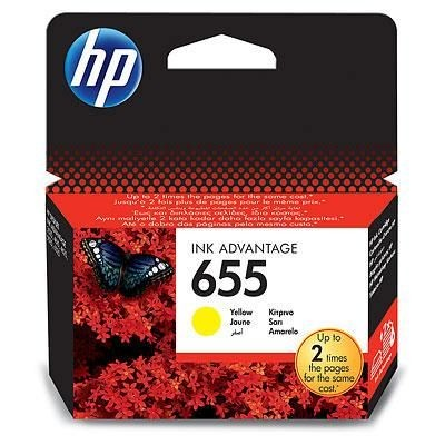 HP tusz 655 yellow BLISTER
