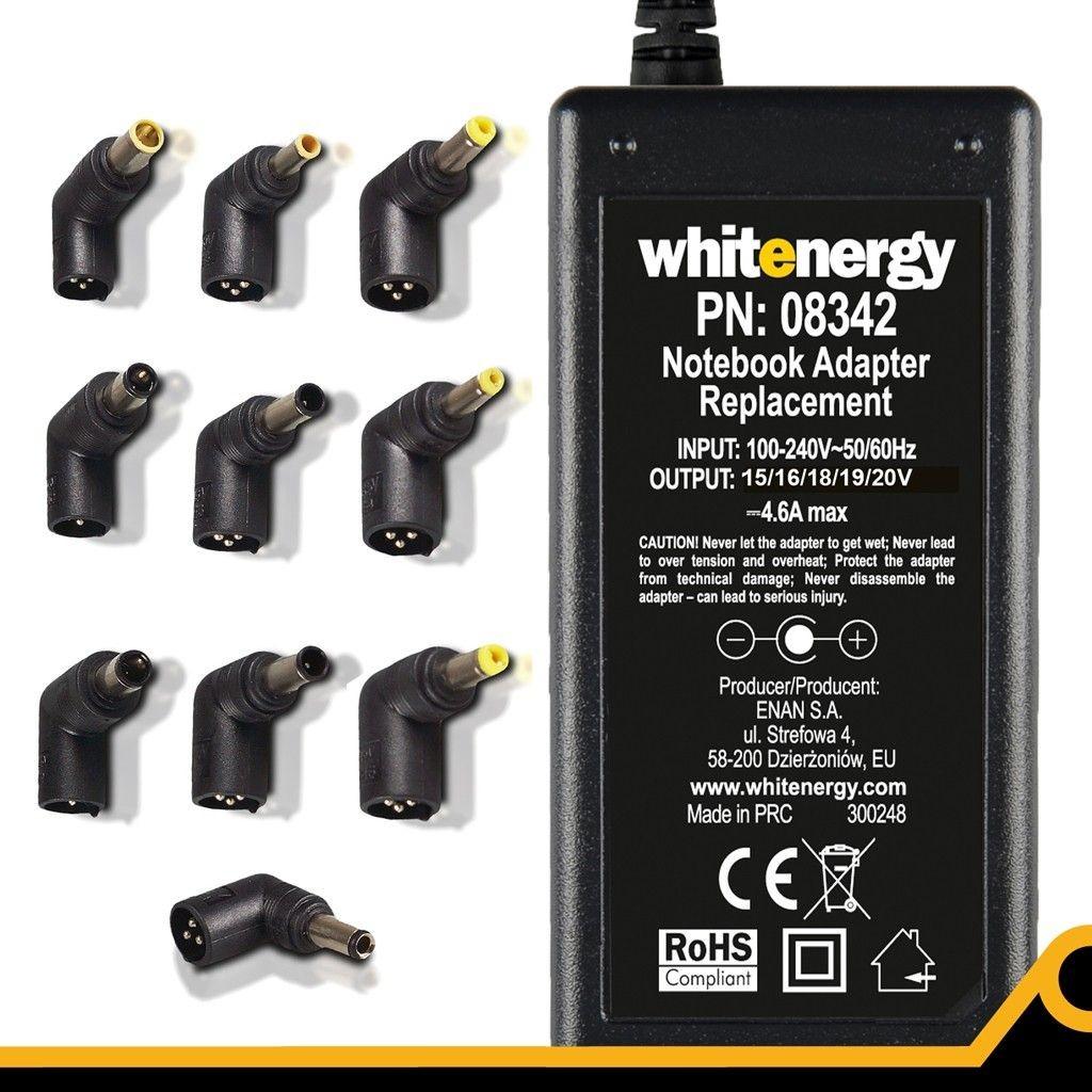 Whitenergy uniwersalny automatyczny zasilacz sieciowy do netbooków 70W (10 wtyków)