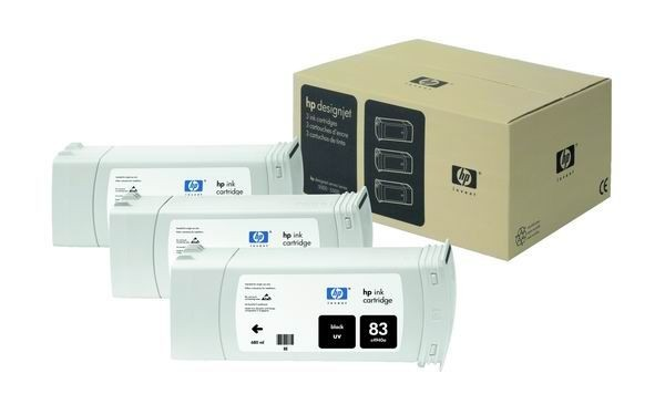 HP 83 Black UV 3-Ink Multipack (680 ml, designjet 5x00/5x00ps)