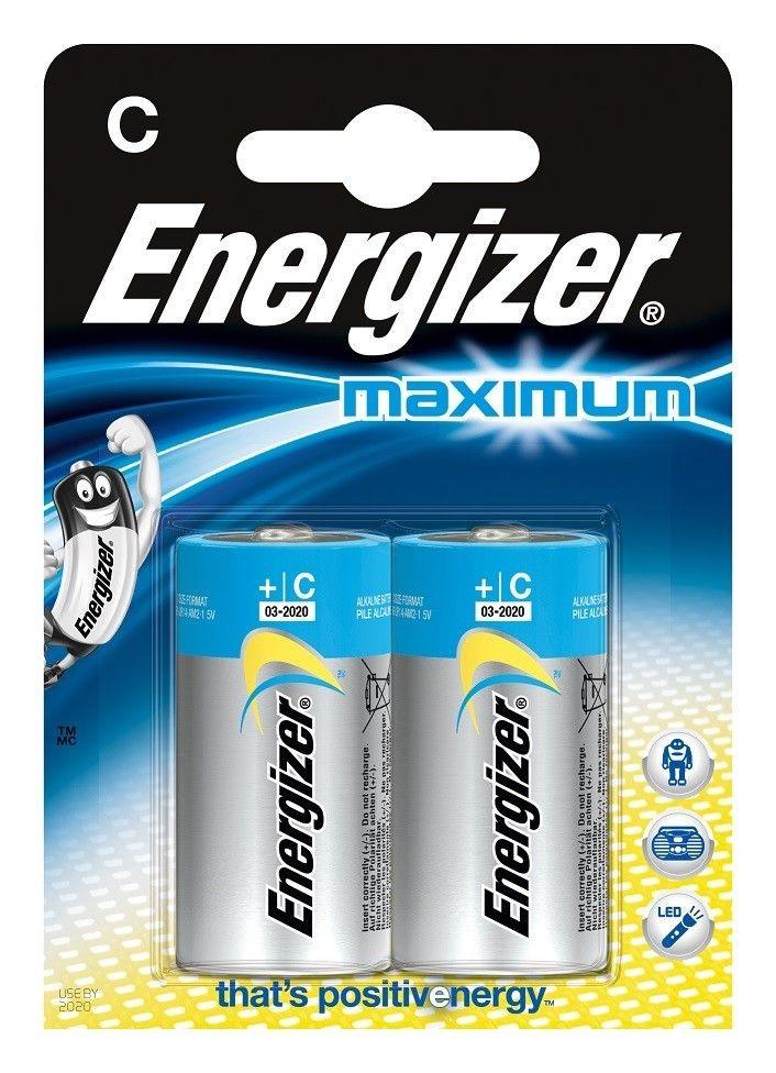 Energizer Baterie Alkaliczna C (LR14, R14, 14A, UM2, MN1400, HP11) 2 szt. 633824