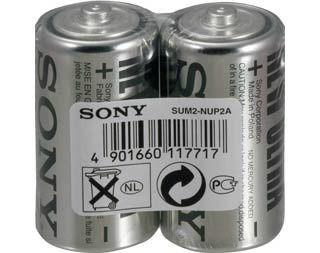 Sony baterie cynkowe R14 (2szt, folia)