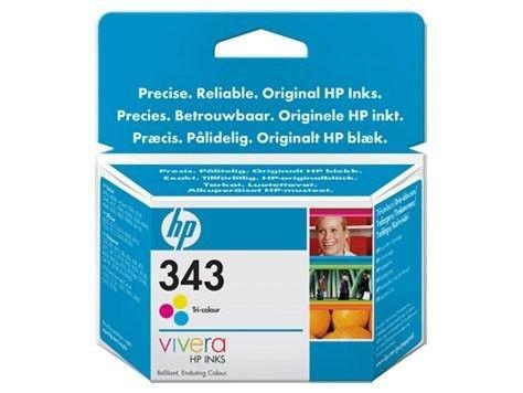 HP Głowica drukująca HP 343 tri-colour Vivera | 7ml | PS325/375/8150,DJ5740/654