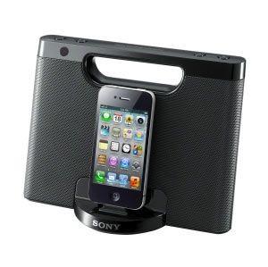 Sony głośniki RDP-M7IP ze stacją dokującą do iPod/iPhone (czarne)